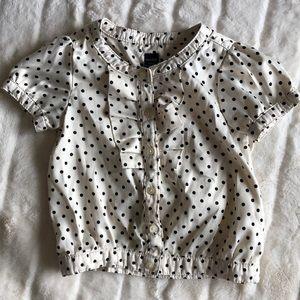 Toddler girls polka dot blouse baby gap